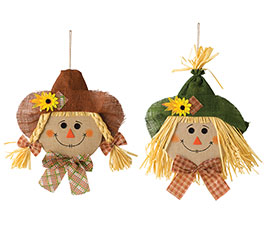 SMALL SCARECROW HEAD WALL HANGING