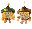 LARGE SCARECROW HEAD WALL HANGING ASTD