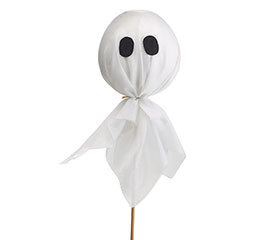 HALLOWEEN GHOST PICK WITH FELT EYES