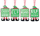 ELF CHRISTMAS ORNAMENT WITH MESSAGE