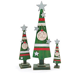 CHRISTMAS TREE SET WITH MESSAGES