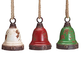 ORNAMENT RUSTIC BELL ASSORTMENT