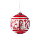 ROUND GLASS MERRY ORNAMENT