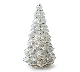LIGHT UP MERCURY GLASS TREE SMALL