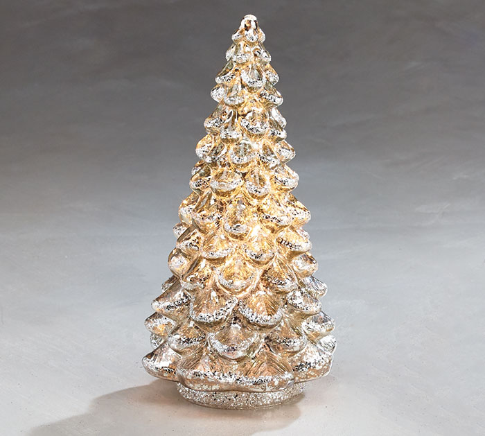 Light Up Mercury Glass Tree Small
