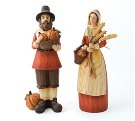 PILGRIM COUPLE MADE OF RESIN