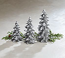 SILVER CHRISTMAS TREE SHAPE