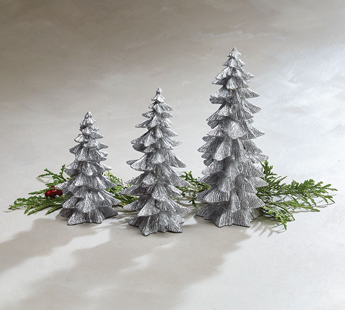 Small Silver Christmas Tree.Silver Christmas Tree Shape