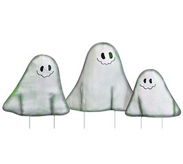 SET OF 3 VARIED SIZE HALLOWEEN GHOSTS