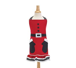 CHILD SANTA MITTENS APRON