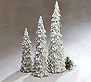 WHITE HOLLY LEAF PINECONE CHRISTMAS TREE