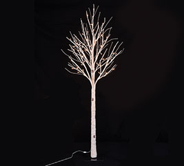 "60"" LIGHTED WHITE BIRCH TREE WITH 72 LED"