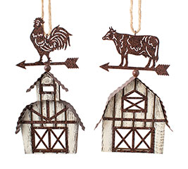WOODEN WEATHERVANE BARN ORNAMENT ASST