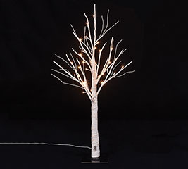 "34"" LIGHTED WHITE BIRCH TREE WITH 36 LED"