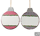 TIN DISC GINGHAM ORNAMENT ASSORTMENT
