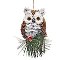 SISAL OWL ORNAMENT WITH FUR