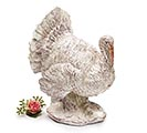 WHITE DISTRESSED SCULPTED TURKEY