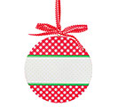 RED GINGHAM ORNAMENT