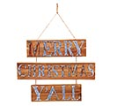 "29"" HANGING MERRY CHRISTMAS Y'ALL SIGN"