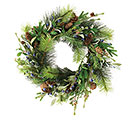 WREATH WITH BLUEBERRIES AND PINECONES