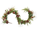 GARLAND WITH RUSTIC BELLS AND GREENERY