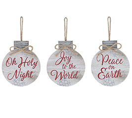 DISC ORNAMENTS WITH ASSORTED MESSAGES