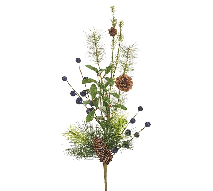 """16"""" SPRAY WITH BLUEBERRIES AND GREENERY"""