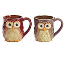 ASSORTED WIDE EYED OWL MUG