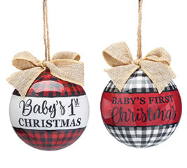 BABY'S FIRST CHRISTMAS ORNAMENT ASST