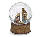 NATIVITY SNOW GLOBE PLAYS SILENT NIGHT