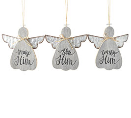 ANGEL ORNAMENTS WITH ASSORTED MESSAGES