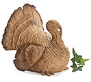 LIGHT BROWN WOOD CARVED LOOKING TURKEY