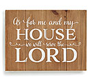 AS FOR ME AND MY HOUSE WALL HANGING