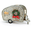 SILVER AIRSTREAM STYLE LIGHT UP CAMPER