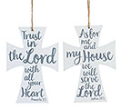 WHITE CROSS ORNAMENTS WITH BIBLE VERSES
