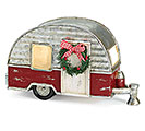 LIGHT UP SILVER AND BRICK RED CAMPER