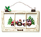 TRACTOR PULLING ANIMALS WALL HANGING
