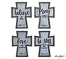 CROSS WALL HANGING ASSORTED MESSAGES