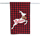 BUFFALO CHECK REINDEER TEA TOWEL
