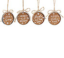 MASON JAR LID CORK ORNAMENT ASSORTMENT