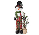 "48"" SNOWMAN WITH LIGHTED PINE TREE"