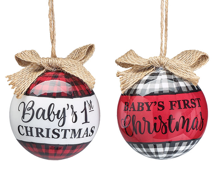 Product Details. BABY'S FIRST CHRISTMAS ORNAMENT ASST