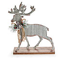 CORRUGATED TIN DEER WITH GREENERY