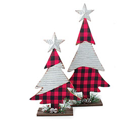 RED/BLACK CHECK CHRISTMAS TREE