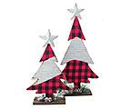 RED/BLACK CHECK CHRISTMAS TREE
