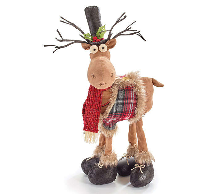 "23"" REINDEER WITH LED LIGHTED ANTLERS"