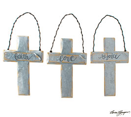 CROSS ORNAMENTS WITH ASTD MESSAGES