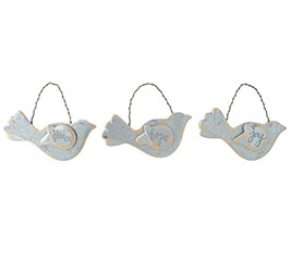 BIRD ORNAMENTS WITH MESSAGES ON WINGS