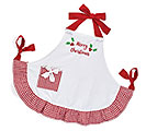 MERRY CHRISTMAS / GINGHAM RUFFLE APRON