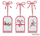ORNAMENT GIFT TAGS WITH CHRISTMAS ICONS